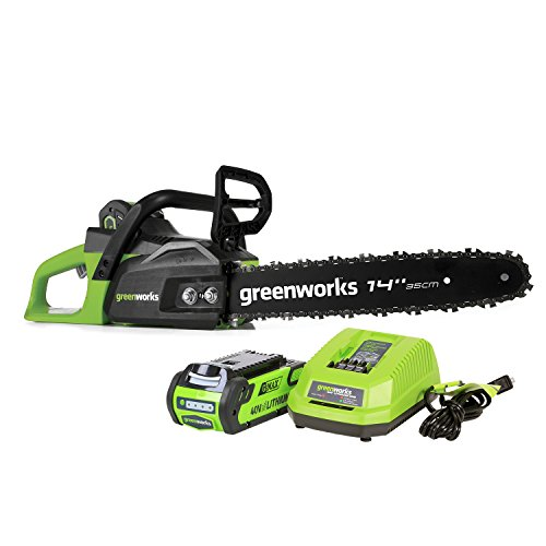 GreenWorks CS40L210 G-MAX 40V 14-Inch Cordless Chainsaw, 2Ah Battery and Charger Included by Greenworks