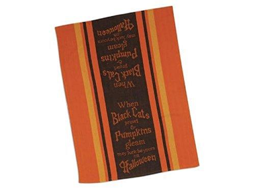 Halloween Black Cats Prowl Kitchen Tea Towel (1) Kay Dee]()