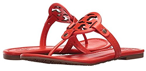 Tory Burch Miller Leather Logo Sandal - Tory Burch Red