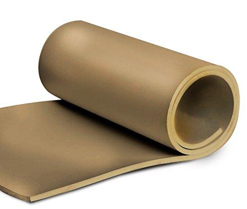 1/8'' x 48'' x 50' roll of Tan gum rubber by Thermodyn
