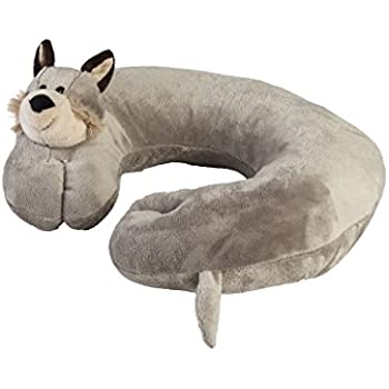 Best comfortable Travel Pillow - Airplane Neck Pillow For Kids and Adults - Soft and Comfortable Plush Puppy Support For Head And Neck, Great for Car, Flying & Traveling - By Global Comfort