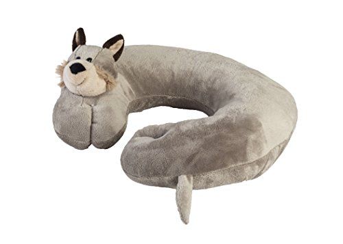 Global Comfort Best comfortable Travel Pillow - Airplane Neck Pillow For Kids and Adults - Soft and Comfortable Plush Puppy Support For Head And Neck, Great for Car, Flying & Traveling - By (Kitty Zebra)