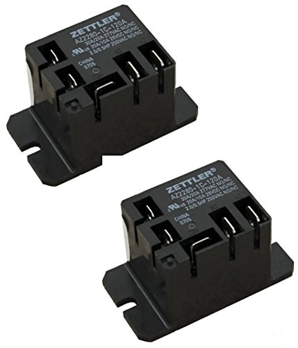 American Zettler Power Relay, SPDT, 30A, 115v, Mini, 30A SPDT 120VAC AZ2280-1C-120A( Pack of 2)