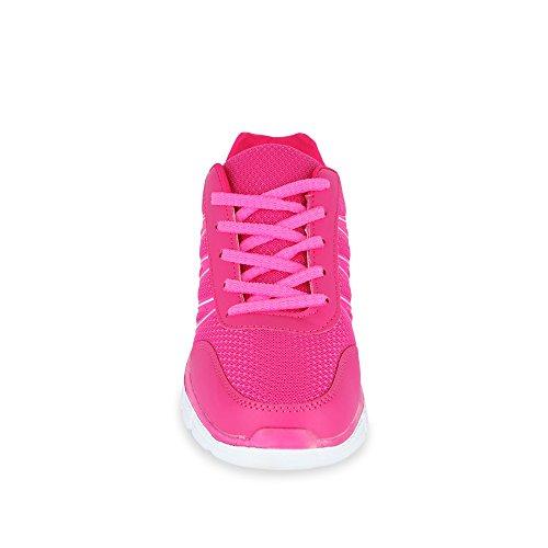 Chaussures fitters runner gardon rose/rose