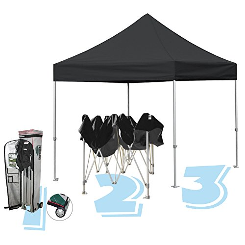 Eurmax STD 10 By 10 Canopy Pop up Party Tent with Wheeled Canopy Carry Bag, Bonus Ground Mat