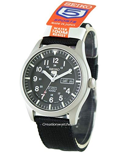 Seiko 5 Automatic Black Dial Mens Watch SNZG15J1 ()