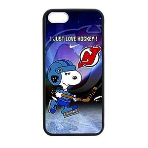 Custom Unique Design NHL New Jersey Devils Iphone 5 5S Silicone Case