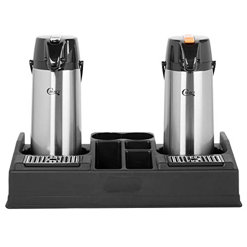 TableTop King Coffee Station Organizer with 2.2 Liter Glass Lined Lever Airpots - Reg/Decaf by TableTop King (Image #3)
