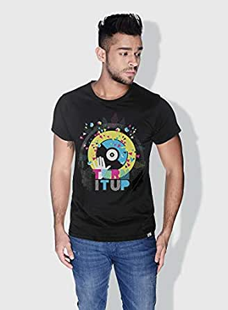 Creo Turn It Up Trendy T-Shirts For Men - S, Black