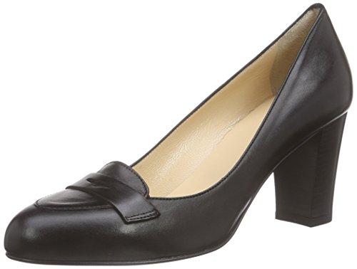 Schwarz Schwarz Tacco 10 Nero Col Shoes Pump Scarpe Evita Donna nHq80Bwv