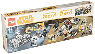 LEGO Star Wars 66596 Super Battle Pack 2 In 1 Includes 75206 Jedi & Clone Troopers & 75207 Imperial Patrol Pack, 1.54 Lb