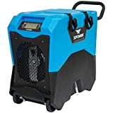 XPOWER XD-85LH Industrial Commercial LGR Dehumidifier for Basement, Large Rooms, Work Sites, Hotel-Flood Damage Treatment, and to Prevent Mold and Mildew- 85-Pints/ 10 Gallons a Day- Blue