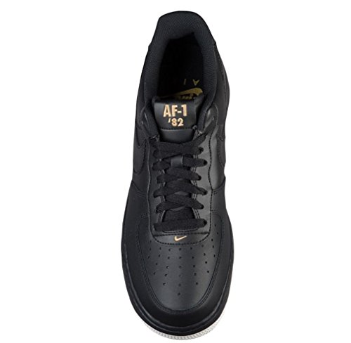 1 summit Men's Gold Trainers Nike Air Force Black White metallic Black 70UUfEWa