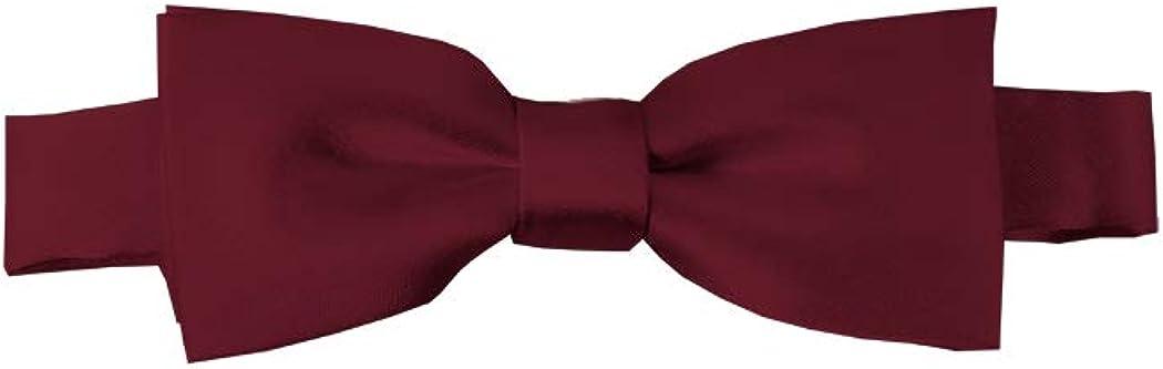 Solid Maroon Kid's Pre-Tied Bow Tie