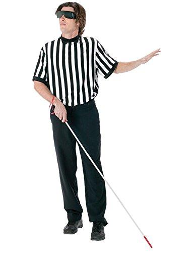 FunWorld Men's  Blind Referee Kit, Black, One Size -