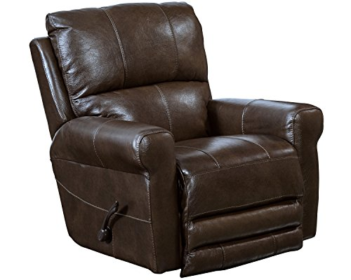 Cheap Catnapper Hoffner Leather Touch Swivel Glider Recliner in Chocolate