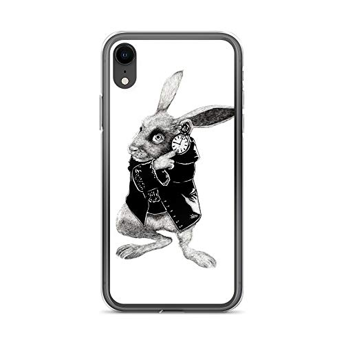 iPhone XR Case Anti-Scratch Motion Picture Transparent Cases Cover The White Rabbit Drawing Movies Video Film Crystal Clear