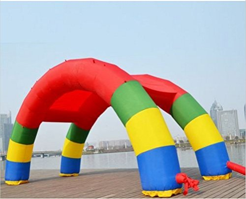 Infaltable Twin Arches 26ft13ft 8M/26ft Inflatable Rainbow Double Arch by JIAWANSHUN