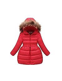 SIN.SE Girls Winter Down Parka Thick Hooded Outwear Coat