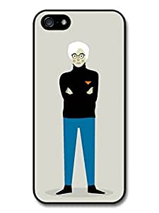 Andy Warhol with Blue Trousers Black Jumper Minimalist Illustration Pop Art Case For Sam Sung Galaxy S5 Cover