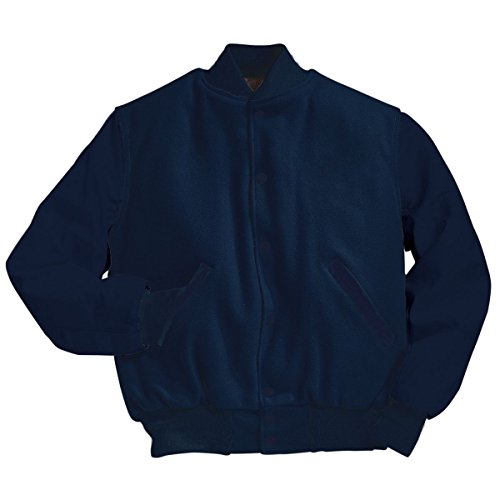 Varsity Wool with Leather Sleeves Jacket From Holloway Sportswear - TALL Size - High Street Melton