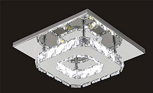 Plafonniers Lustres Luminaire Lustre Moderne Led Plafonnier voitureré Cristal Lustre Luminarias Para Sala Lampes Led Pour Allées De Couloir De Couloir D'Allée De Maison