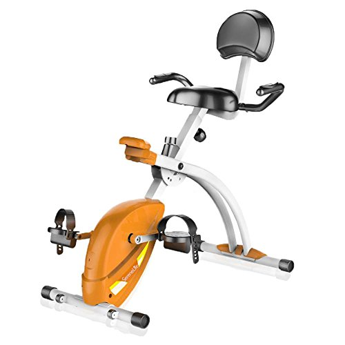 SereneLife Exercise Bike - Recumbent Stationary Bicycle Pedal Cycling Trainer Fitness Machine Equipment for Under Desk Workout, Weight Loss, Fitness & Health at Home & Office