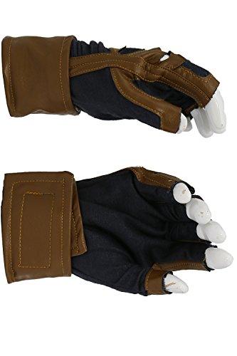 Xcoser New Captain America Brown Fingerless Gloves Captain America Adult Cosplay