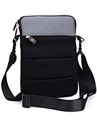 Sleeve Cover & Carry Bag w/Strap for Samsung Galaxy Note Pro (12.2) & Accessories|Black Grey|NuVur