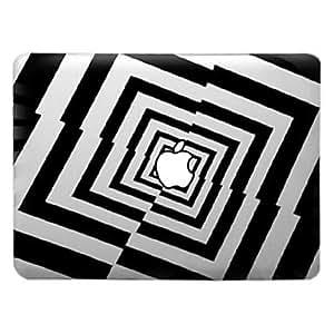 """MOFY-Trabajo art'stico de patr—n de rejillas estuche r'gido de la PC transparente para el aire del macbook (colores surtidos) , Verde Oscuro , 11.6"""""""