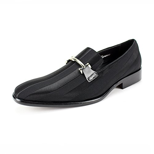 Expressions 6757 Men's Formal Loafer Slip-on Dress Shoe Striped Satin Tuxedo by RC Roberto Chillini (13, -
