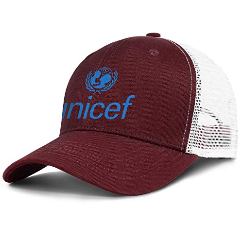 (ZWZHI UNICEF Men Women Novelty Mesh Trucker Cap Snapback Adjustable Back)