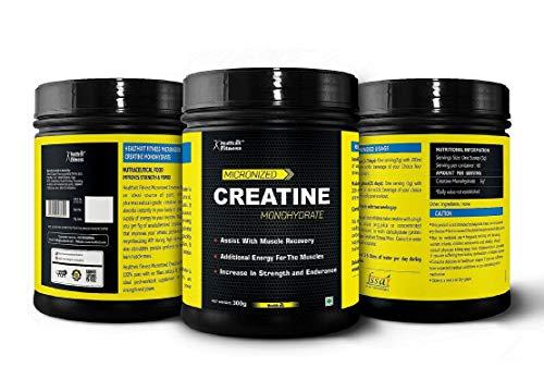 Healthvit Micronized Creatine Powder - 300 g (Unflavored) from Healthvit