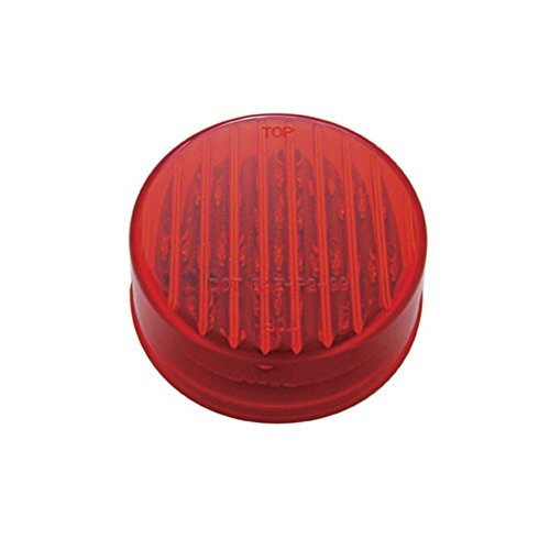 Red 2.5' Round 13 LED Truck Trailer Side Marker Clearance Light Kit / Grommet United Pacific 4333002811