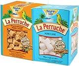 La Perruche 2 X 26.5oz Sugar Set - 1ea of White and Brown Sugar Cubes