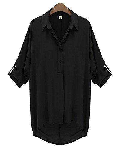 [ソーロ トゥ] ゆったり デザイン シフォン シャツ ブラウス ビッグシャツ M ? 4XL
