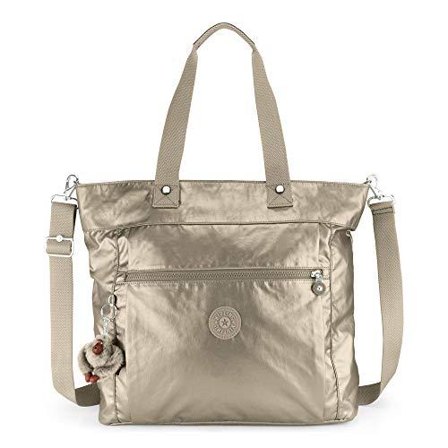 Kipling Lizzie Laptop Tote Bag, Metallic Pewter, Metallic Pewter by Kipling