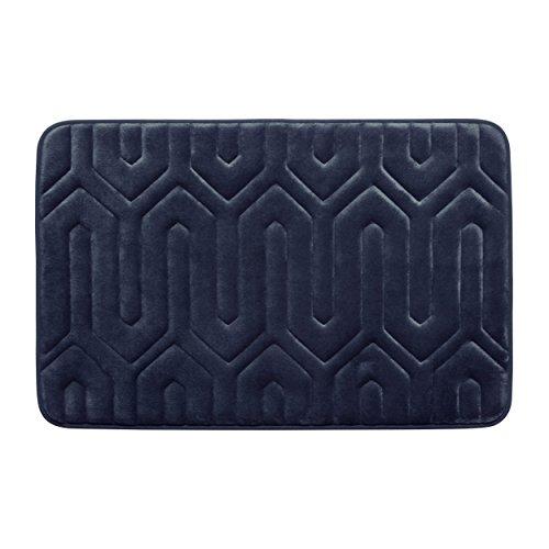Bounce Comfort Extra Thick Memory Foam Bath Mat - Thea Premium Micro Plush Mat with BounceComfort Technology, 17 x 24 in. Indigo -  Bath Studio, YMB003712