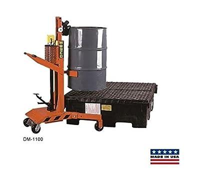 Hydraulic Drum Handler 30 50 55 or 80 Gallon Auto Grip Locks [240150] 1100# Cap.