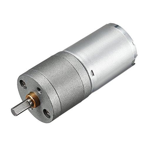 uxcell Mini 24V DC 48 RPM Gear Box Electric Motor,1.4kg.cm Loading Torque,7.4kg.cm Stall Torque
