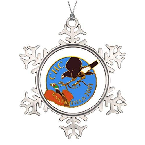 OneMtoss Christmas Snowflake Ornament Falcon Ideas for Decorating Christmas Trees Accipiter Office Decor ()
