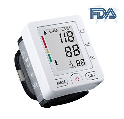 Automatic Digital Sphygmomanometer Wrist Cuff with LCD Screen - WHITE - 2