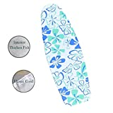 """Appliances : Duwee 18""""x50"""" Cotton Replacement Ironing Board Cover With Thicken Felt Material Padding, Sewn-in Bungee Cord Binding Fits Board Tightly and Beautifully (Green Flower)"""