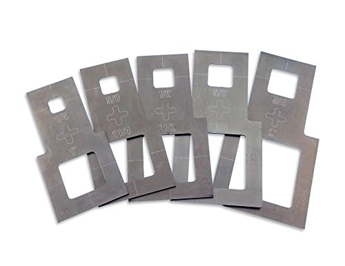 Laser Cutting Guide (Plasma Stencil - Square Cutter Guide - 5 pc. Kit - .380