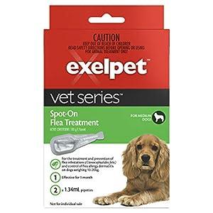 EXELPET Spot-On Medium Dog Flea Treatment, 2 x 1.34ml Click on image for further info.