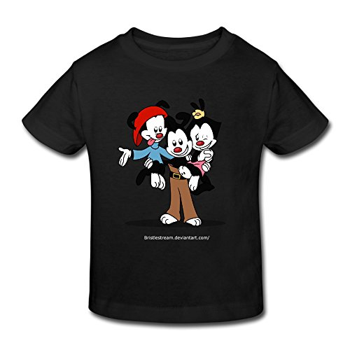 Toddler's 100% Cotton Animaniacs Cute T-Shirt Black US Size 4 Toddler