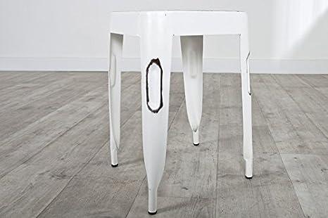 Sgabello design weimar vintage bianco cm impilabile amazon