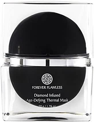 Forever Flawless Diamond Infused Thermal Mask with 100% Natural White Diamond Infused Powder, Designed for Flawless Skin, Anti Wrinkle & Anti Aging FF43, (1.76 oz)
