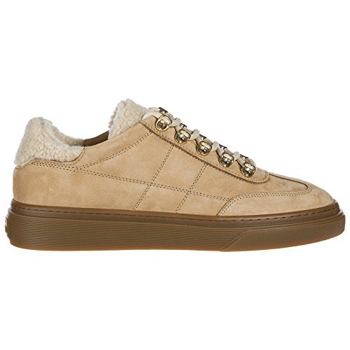 Marron Baskets h340 Chaussures Daim Femme Hogan Sneakers en P8S05qF