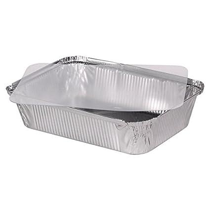 """100 bandejas de aluminio tapa de plástico tapa cuadrada + (PET) modelo """""""